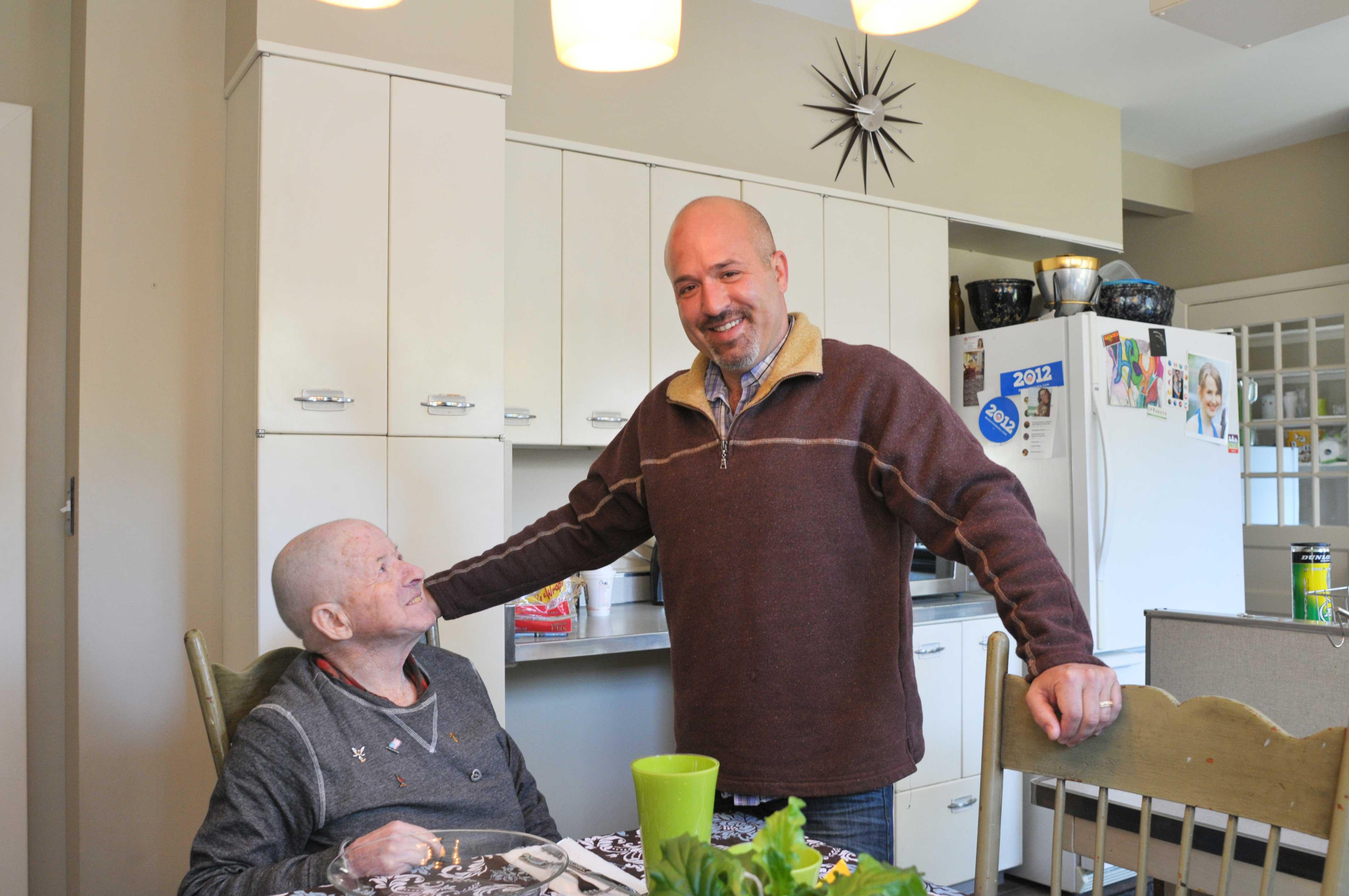 bill-looking-at-Jerrod-in-kitchen